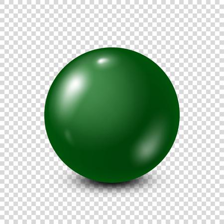 Lotería verde, billar, bola de billar. Snooker. Fondo transparente. Ilustración vectorial Foto de archivo - 87425588