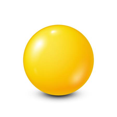 Lotería amarilla, billar, bola de billar. Snooker. Fondo blanco. Ilustración vectorial Foto de archivo - 87425591