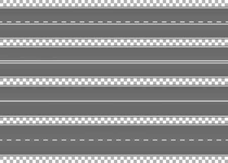 道路、アスファルトの通り。高速道路。輸送のための方法。Isolated.Speedway.Vector の図。  イラスト・ベクター素材