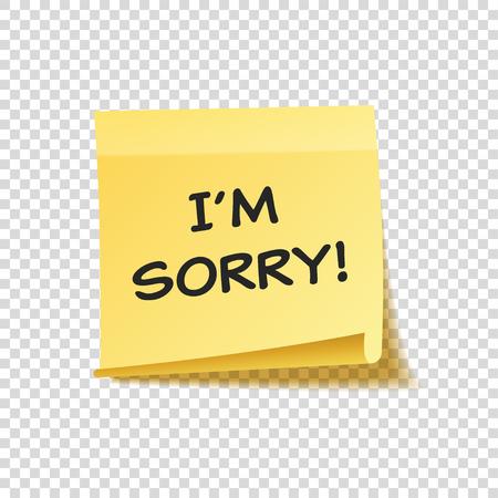 付箋テキストおよび透明な背景に分離した影を設定します。黄色の紙。便箋にメッセージ。思い出させる。ベクトル図