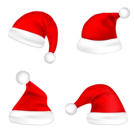Christmas Santa Claus hats. Ilustração
