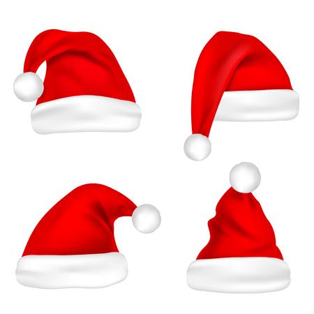 Christmas Santa Claus hats. Illustration