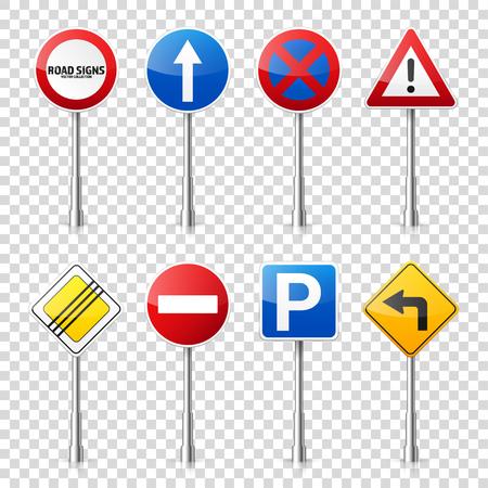 Verkeerstekens verzamelen.