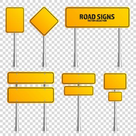 Road yellow traffic sign. Illustration