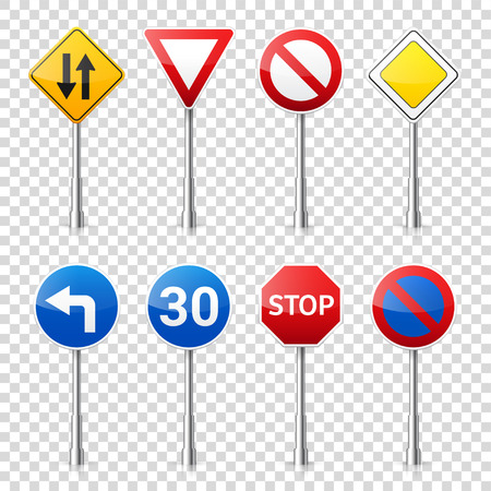 Computer instruction: Road signs collection.
