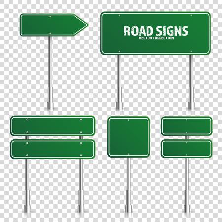 Weg groen verkeersbord. Stock Illustratie