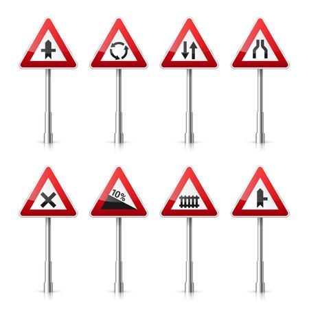 Road signs collection illustration. Illustration