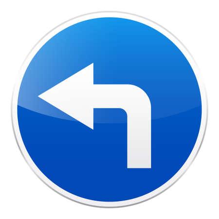 青い道路標識  イラスト・ベクター素材