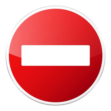 Rotes Zeichen der Straße auf weißem Hintergrund. Straßenverkehrskontrolle.Lane Nutzung. Regulatorisches Zeichen. Stoppen Sie und geben Sie nach. Straße. Standard-Bild - 89225740