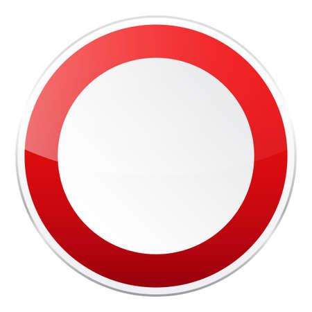赤い道路標識  イラスト・ベクター素材