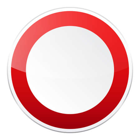 Road red sign
