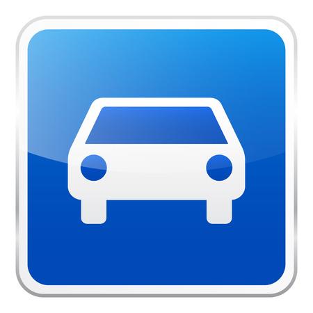 Weg blauw teken op witte achtergrond. Road traffic control.Lane gebruik. Regulatory sign. Straat.