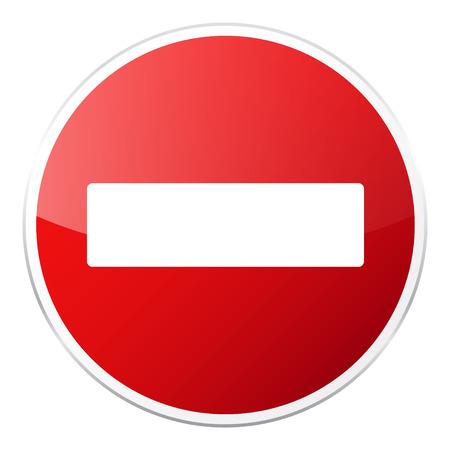 Signe de la route rouge sur fond blanc. Contrôle de la circulation routière. Utilisation de la voie. Signe réglementaire Arrêtez et cédez. Rue. Vecteurs