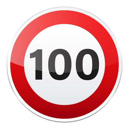 Road red sign on white background. Road traffic control.Lane usage. Stop and yield. Regulatory sign. Street. Speed limit. 向量圖像
