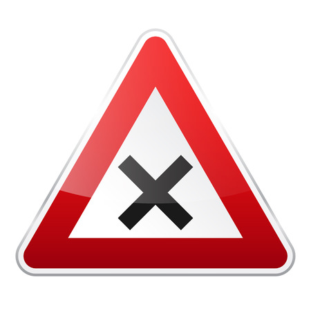 Computer instruction: Road red sign on white background. Road traffic control.Lane usage. Regulatory sign.