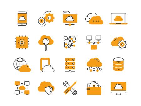 Cloud technology icons. Illustration
