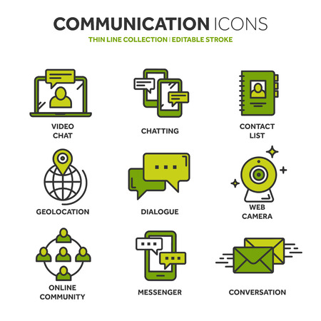 Communication icons collection Vector illustration.