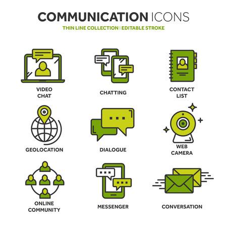 Communication icons collection Vector illustration. Ilustração Vetorial
