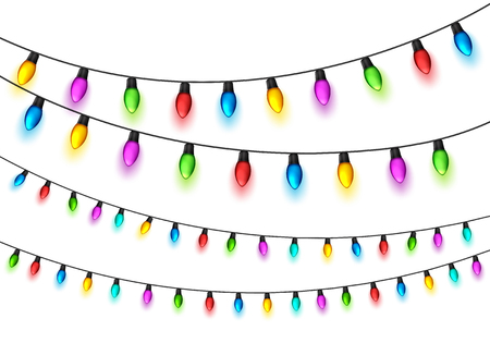 Christmas glowing lights design element.