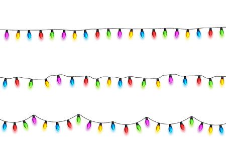 크리스마스 빛나는 조명 디자인 요소.