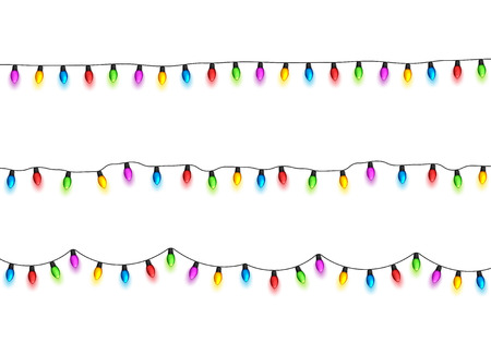 Christmas glowing lights design element.