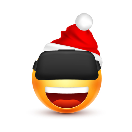 Happy face icon. Illustration