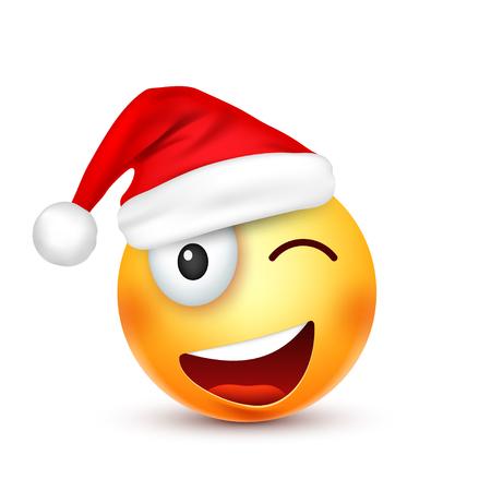 Christmas hat and smiley
