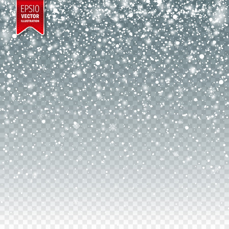 Snow with snowflakes template design.
