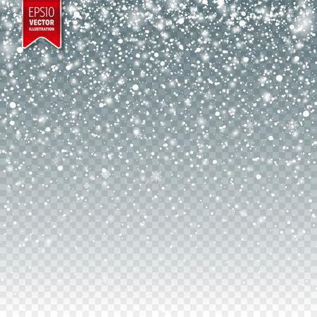 Sneeuw met sneeuwvlokken sjabloonontwerp.