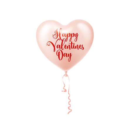Valentines day abstract background with red 3d balloons. Heart shape. February 14, love. Romantic wedding greeting card. Womens, Mother s day.