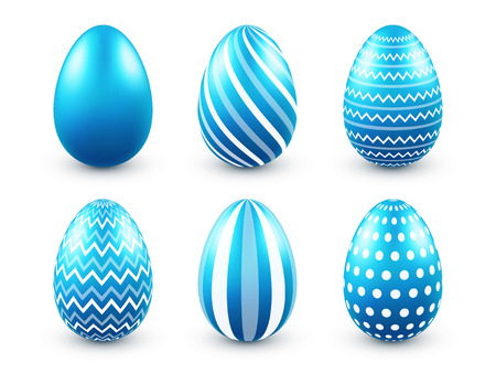 Easter eggs blue set. Spring. Holidays in April. Gift. Seasonal celebration.Egg hunt. Sunday.