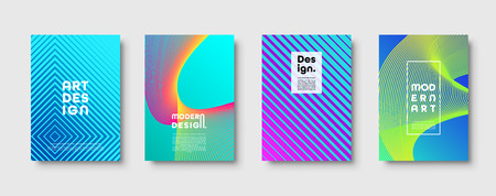 Abstract modern background. Geometric shapes and lines. Colorful neon gradient. Eps10 vector