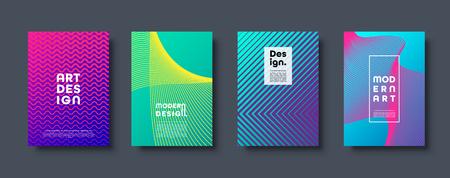 Streszczenie nowoczesne tło. Geometryczne kształty i linie. Kolorowy neonowy gradient. Eps10 wektor