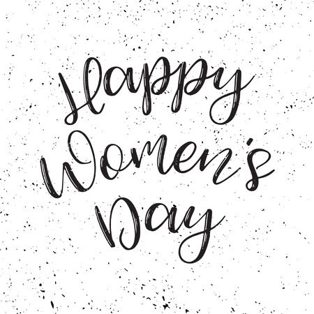Women's day grunge poster with text. Greeting card with typography design. Lettering banner. 8 march holiday. Vector illustration Archivio Fotografico - 125131266