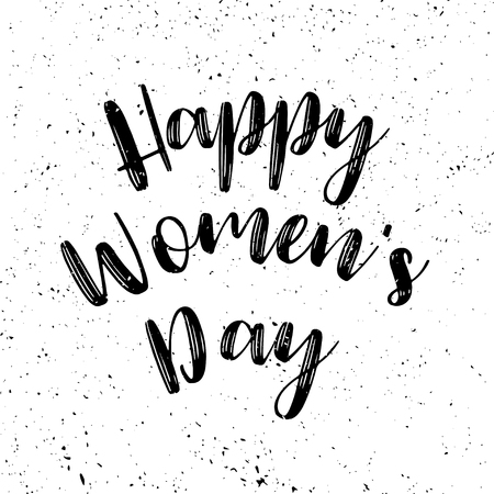 Women's day grunge poster with text. Greeting card with typography design. Lettering banner. 8 march holiday. Vector illustration Archivio Fotografico - 125131267