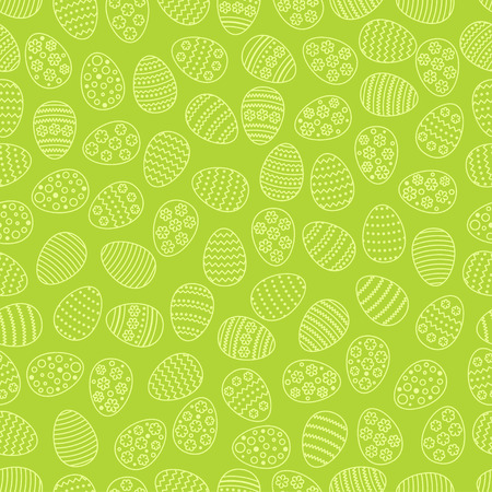 Easter seamless background with eggs. Gift card egg ornament, pattern. Spring season holidays Vektorové ilustrace