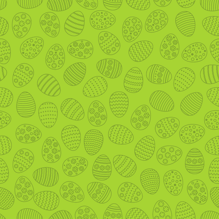 Easter seamless background with eggs. Gift card egg ornament, pattern. Spring season holidays