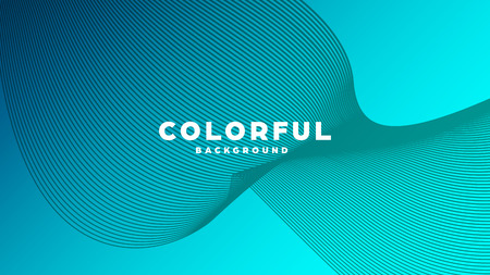 Modern minimal colorful abstract background, lines and geometric shapes design with gradient color. Vector illustration Vetores