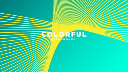 Modern minimal colorful abstract background, lines and geometric shapes design with gradient color. Vector illustration Çizim