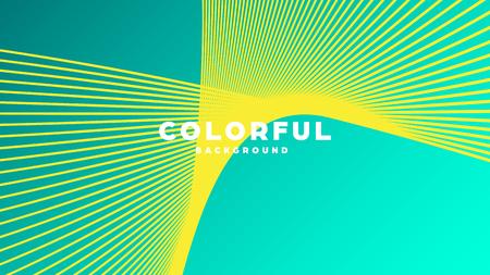 Moderner, minimalistischer, farbenfroher abstrakter Hintergrund, Linien und geometrische Formen mit Farbverlauf. Vektor-Illustration