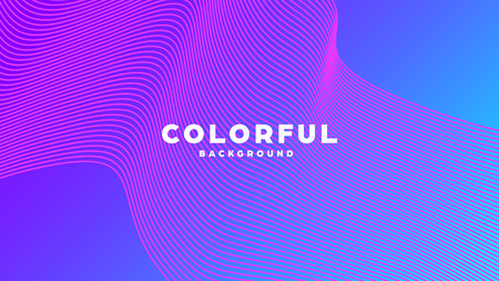 Modern minimal colorful abstract background, lines and geometric shapes design with gradient color. Vector illustration