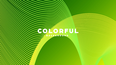 Modern minimal colorful abstract background, lines and geometric shapes design with gradient color. Vector illustration Standard-Bild - 120834420