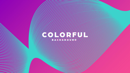 Modern minimal colorful abstract background, lines and geometric shapes design with gradient color. Vector illustration  イラスト・ベクター素材