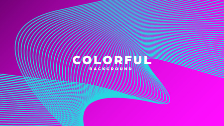 Modern minimal colorful abstract background, lines and geometric shapes design with gradient color. Vector illustration Standard-Bild - 120835669