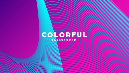 Modern minimal colorful abstract background, lines and geometric shapes design with gradient color. Vector illustration Иллюстрация