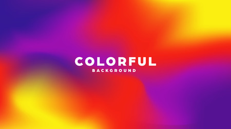 Colorful modern abstract background with neon gradient. Dynamic color flow poster, banner. Vector illustration Standard-Bild - 120887300
