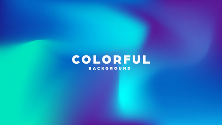 Colorful modern abstract background with neon gradient. Dynamic color flow poster, banner. Vector illustration Vetores