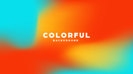 Colorful modern abstract background with neon gradient. Dynamic color flow poster, banner. Vector illustration Standard-Bild - 120895018