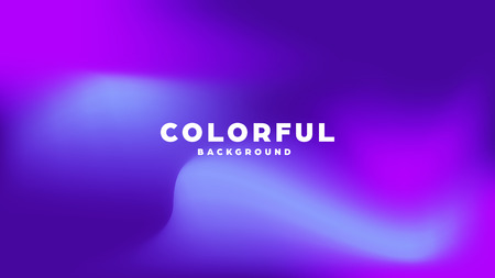 Colorful modern abstract background with neon gradient. Dynamic color flow poster, banner. Vector illustration Vektorové ilustrace