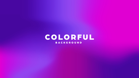 Colorful modern abstract background with neon gradient. Dynamic color flow poster, banner. Vector illustration
